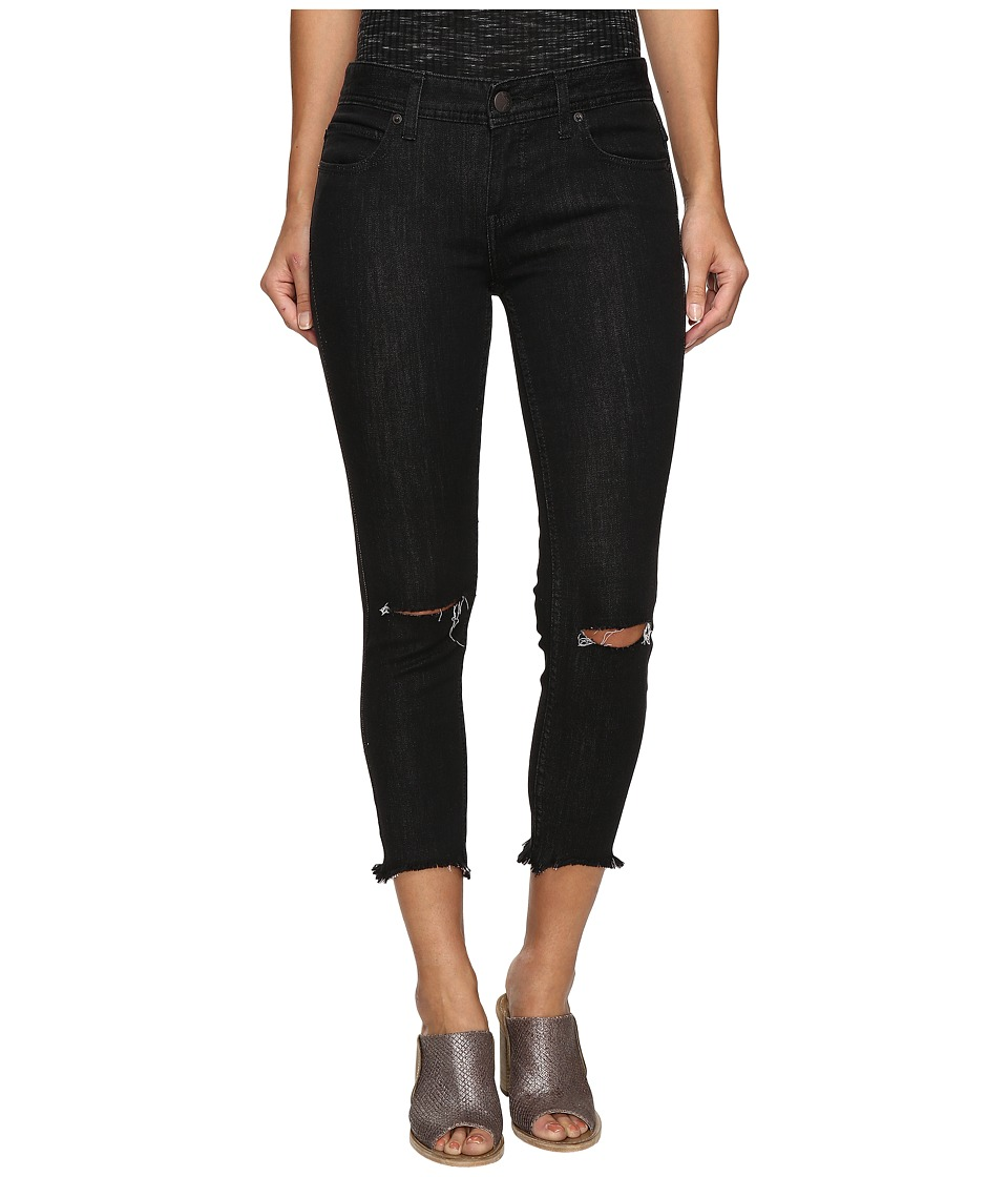 Free People Jeans Skinny Destroyed in Carbon (Carbon) Women