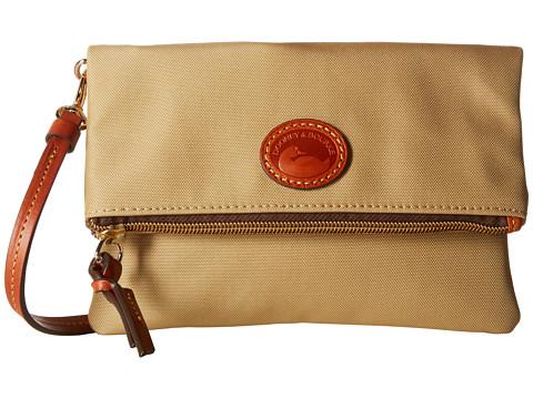Dooney & Bourke Nylon Fold-Over Zip Crossbody - Khaki w/ Tan Print