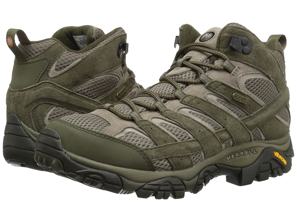 Merrell - Moab 2 Mid Waterproof (Dusty Olive) Mens Shoes