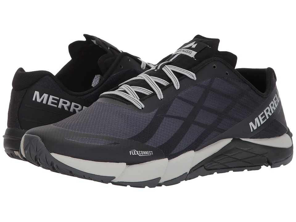 Merrell - Bare Access Flex (Black/Silver) Mens Shoes