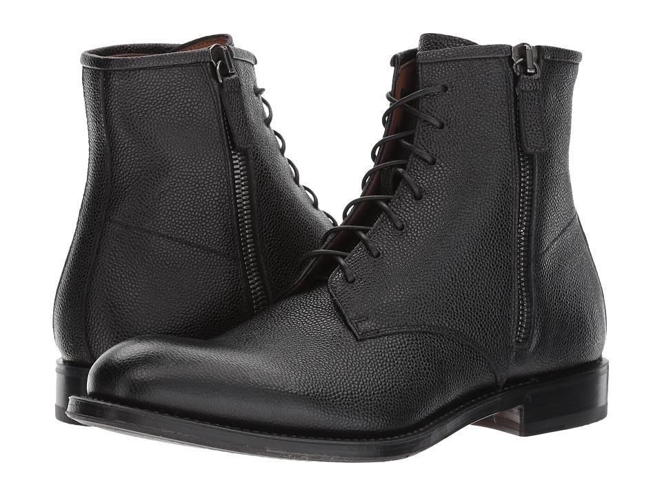 Aquatalia - Victor (Black Pebbled Grain) Mens Zip Boots