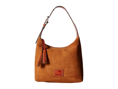 Dooney & Bourke Patterson Suede Paige Sac - Amber w/ Tan Trim