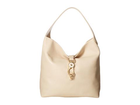 Dooney & Bourke Florentine Classic Logo Lock Shoulder Bag - Bone w/ Self Trim