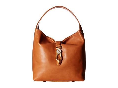 Dooney & Bourke Florentine Classic Logo Lock Shoulder Bag - Natural w/ Self Trim