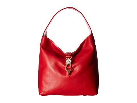 Dooney & Bourke Florentine Classic Logo Lock Shoulder Bag - Red w/ Self Trim