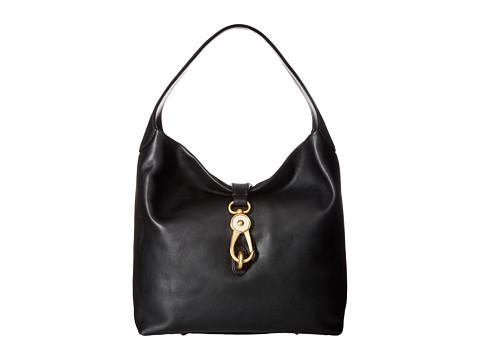 Dooney & Bourke Florentine Classic Logo Lock Shoulder Bag - Black w/ Self Trim