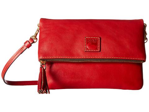 Dooney & Bourke Florentine Classic Fold-Over Zip Crossbody - Red w/ Self Trim