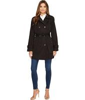 London Fog - Quilt Shoulder Trench Coat