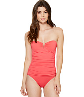 Tommy Bahama - Pearl V-Front Bandeau One-Piece Swimsuit
