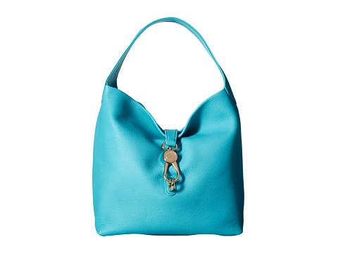Dooney & Bourke Belvedere Logo Lock Shoulder Bag - Calypso w/ Self Trim