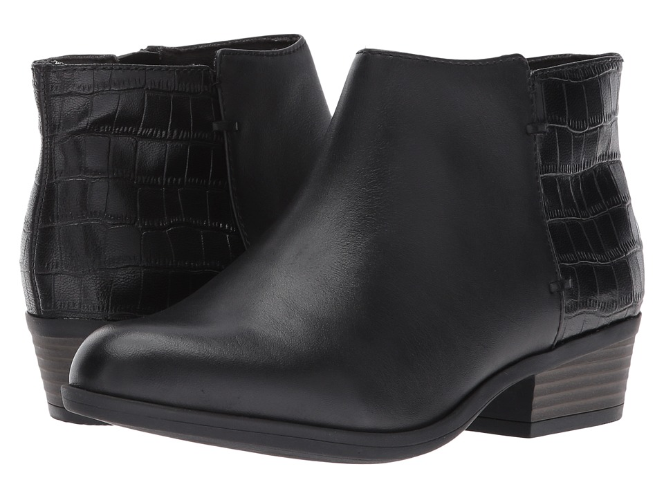 Clarks Addiy Zora (Black Leather) Women