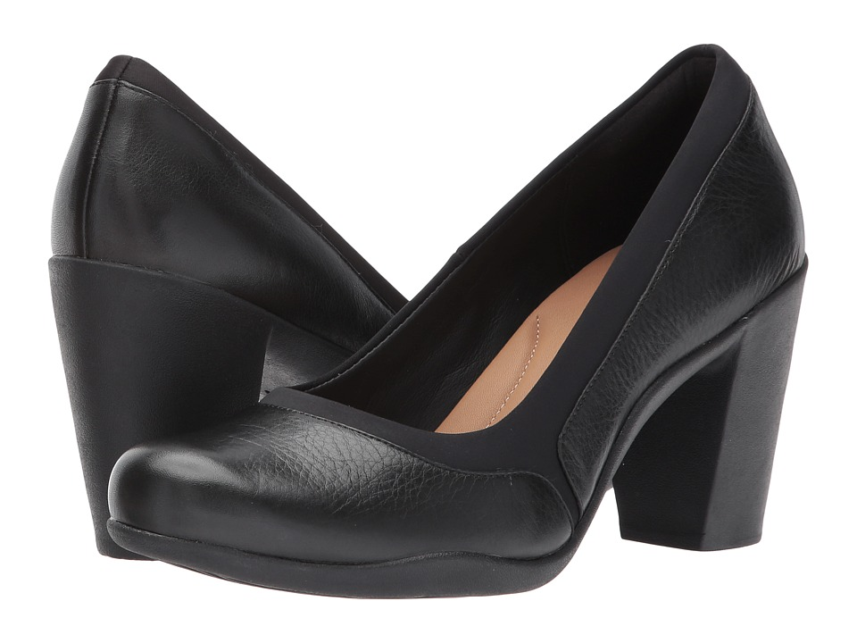 Clarks Adya Maia (Black Leather) Women