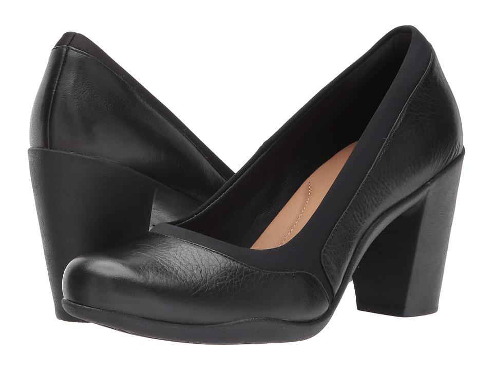 Clarks Adya Maia (Black Leather) Women