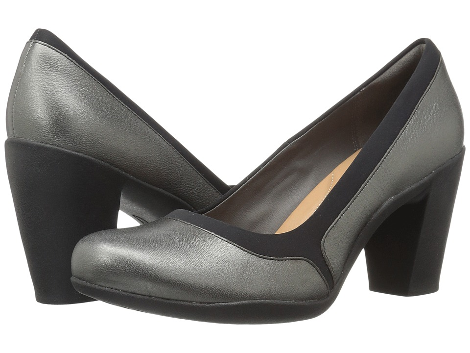 Clarks Adya Maia (Pewter Metallic) Women