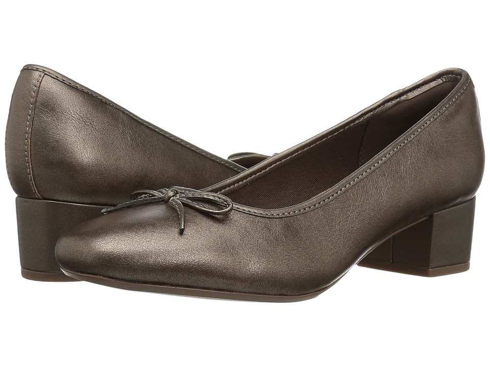 Clarks - Chartli Daisy (Pewter Leather) Womens  Shoes