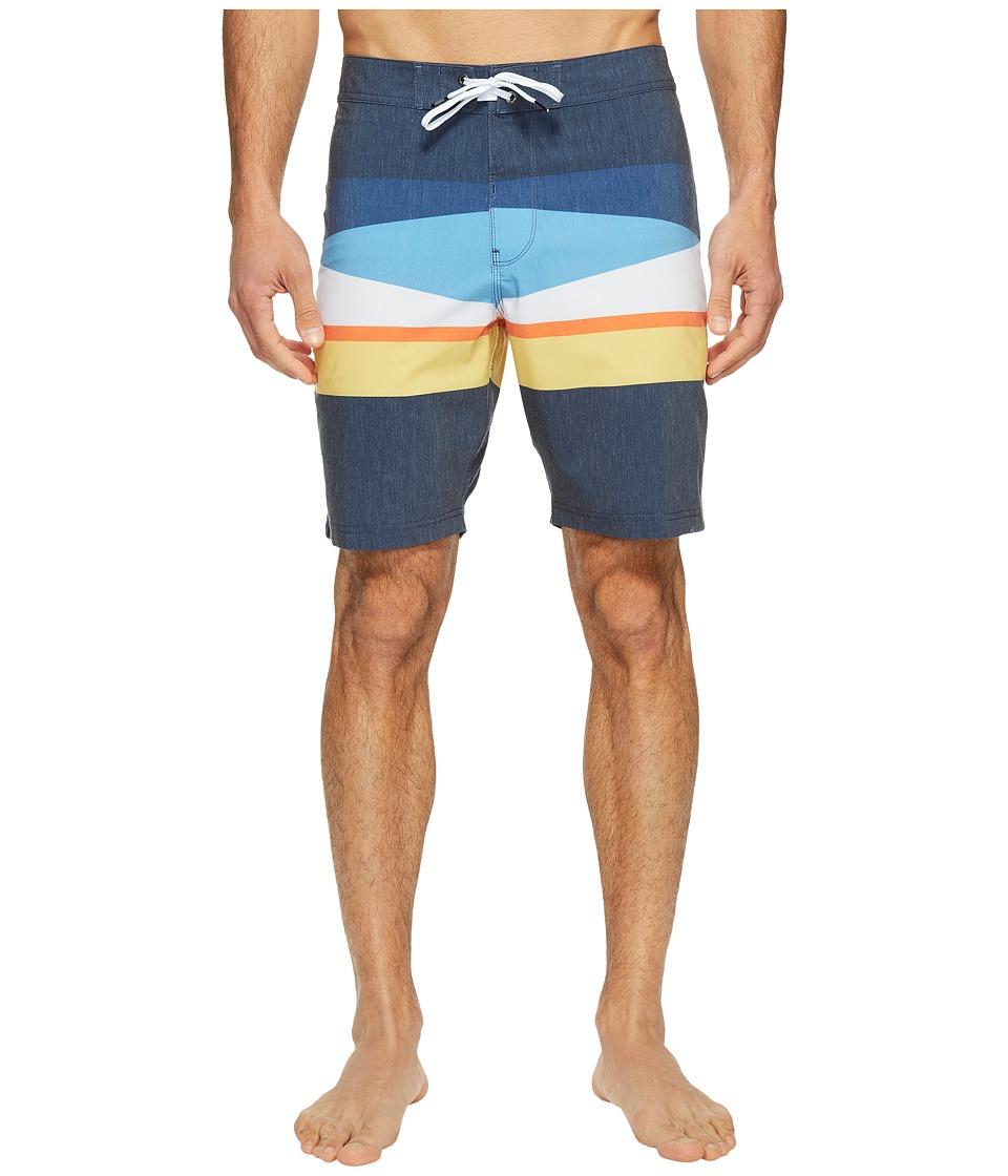 VISSLA Flagged Four-Way Stretch Boardshorts 20 (Dark Navy) Men