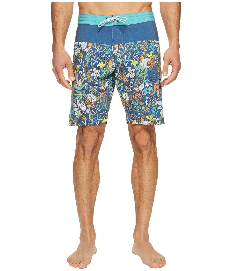 VISSLA Aqua Garden Four-Way Stretch Boardshorts 20 (Strong Blue) Men