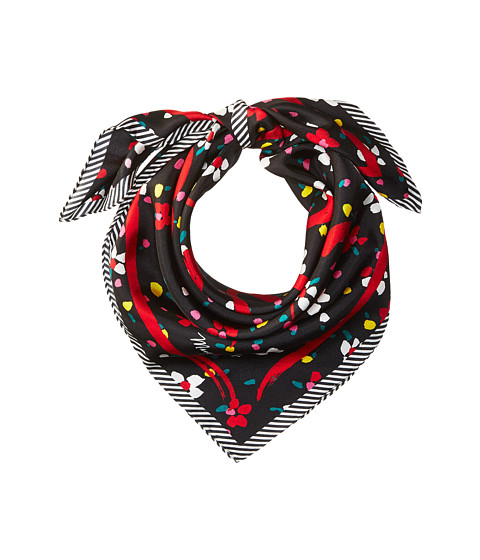 Marc Jacobs Painted Flower and Hearts Square - Black Multi