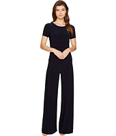 KAMALIKULTURE by Norma Kamali - Short Sleeve Shirred Waist Jumpsuit