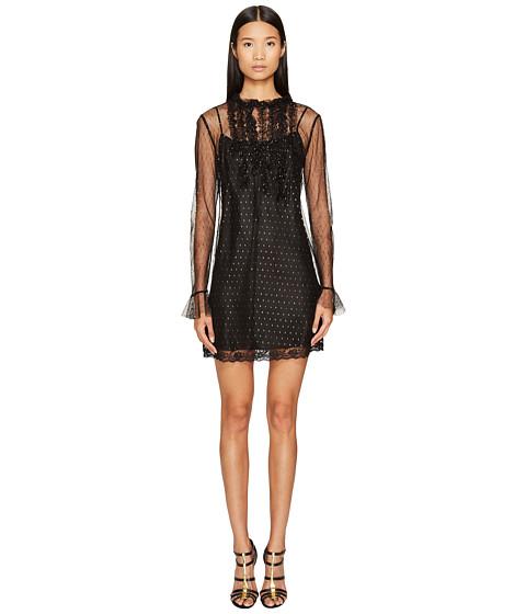 Sonia by Sonia Rykiel Short Sleeve Plumetis Dress with Frills