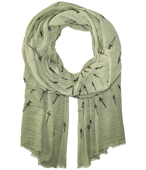 rag & bone Embroidered Dagger Scarf - Army Multi