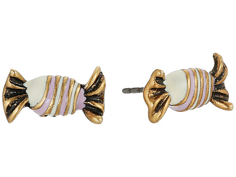Marc Jacobs Striped Candy Studs Earrings - Antique Gold