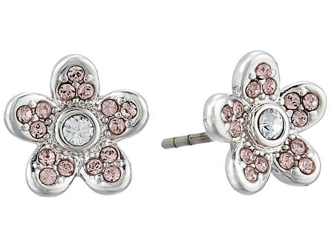 Marc Jacobs MJ Coin Flower Stud Earrings - Silver
