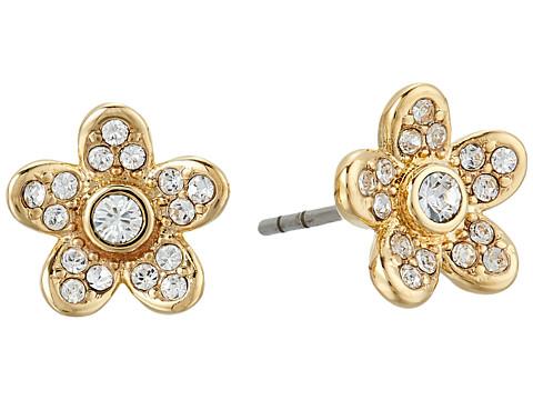 Marc Jacobs MJ Coin Flower Stud Earrings - Gold