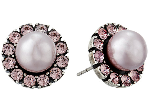 Marc Jacobs Small Strass Pearl Studs Earrings - Blush Rose Multi