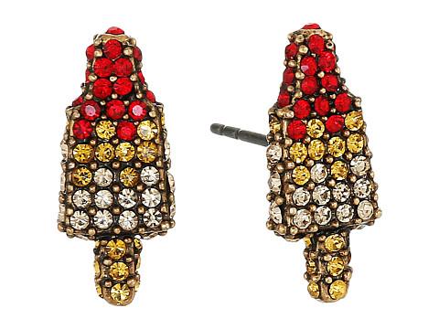Marc Jacobs Rocket Lolli Studs Earrings - Antique Gold
