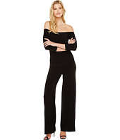 KAMALIKULTURE by Norma Kamali - Off Shoulder Shirred Waist Jumpsuit