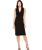 KAMALIKULTURE by Norma Kamali - Sleeveless Side Draped Dress