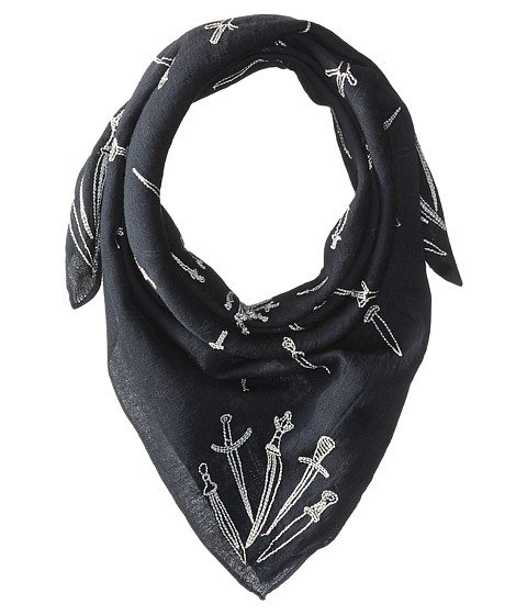 rag & bone Embroidered Dagger Bandana - Navy Multi