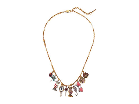 Marc Jacobs Charms Poolside Statement Necklace - Antique Gold