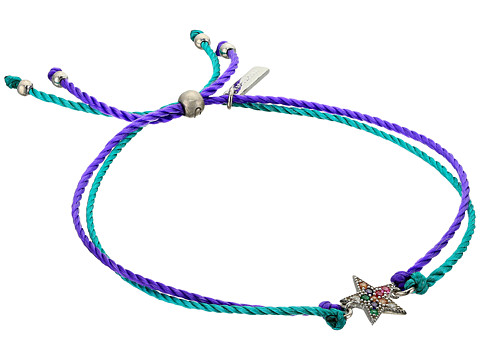 Marc Jacobs Something Special Rainbow Star Friendship Bracelet - Silver
