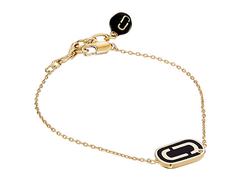 Marc Jacobs Icon Enamel Bracelet - Black/Gold