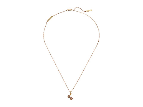 Marc Jacobs Something Special Cherry Pendant Necklace - Gold