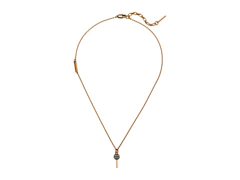 Marc Jacobs Tiny Lollipop Pendant Necklace - Antique Gold
