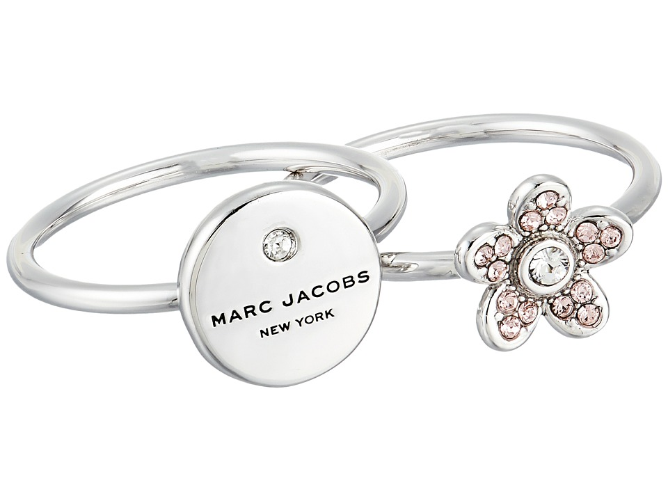 Marc Jacobs MJ Coin Charm Ring (Silver) Ring