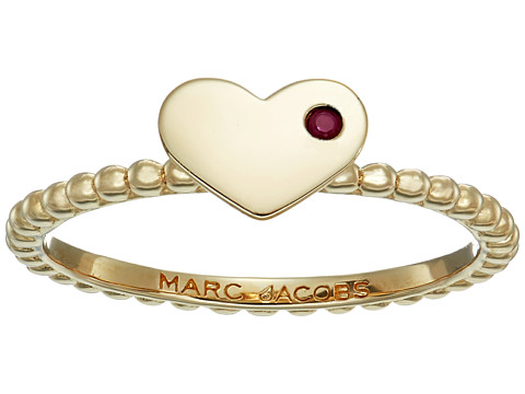 Marc Jacobs Something Special Heart Ring - Gold