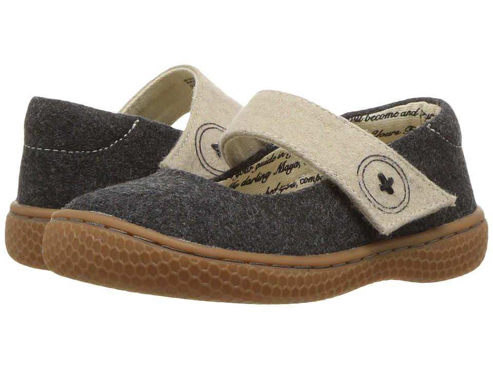Livie + Luca Carta II (Toddler/Little Kid) (Charcoal) Girl's Shoes
