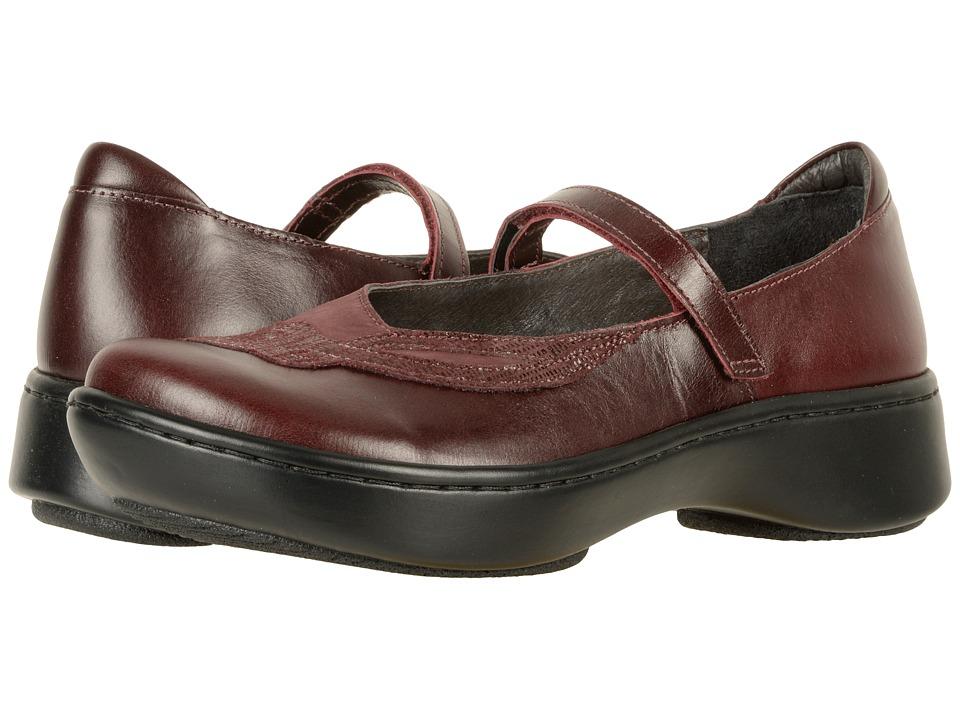 Naot Bluegill (Bordeaux Leather/Violet Nubuck/Reptile Burgundy Leather) Women's Shoes