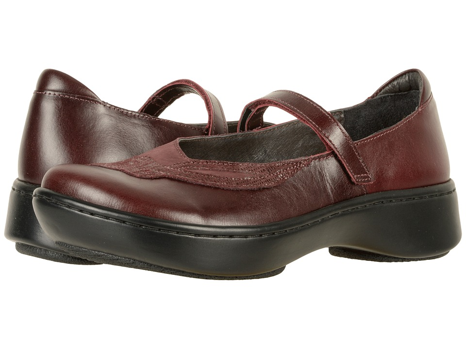 Naot Bluegill (Bordeaux Leather/Violet Nubuck/Reptile Burgundy Leather) Women
