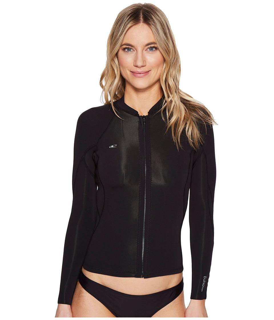 O'Neill Bahia Full Zip Jacket (Black/Black/Black)