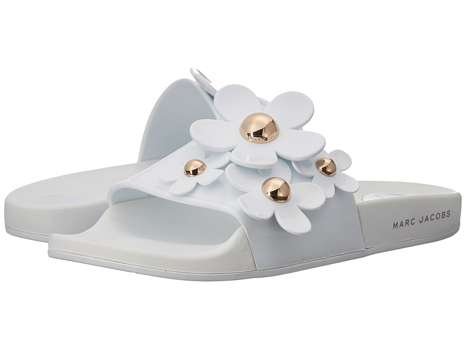 Marc Jacobs Daisy Aqua Slide (White) Women