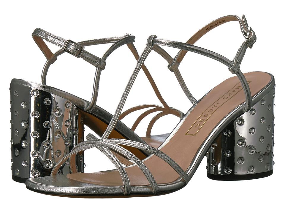 Marc Jacobs Sheena Strap Sandal (Silver Metallic Leather) Women