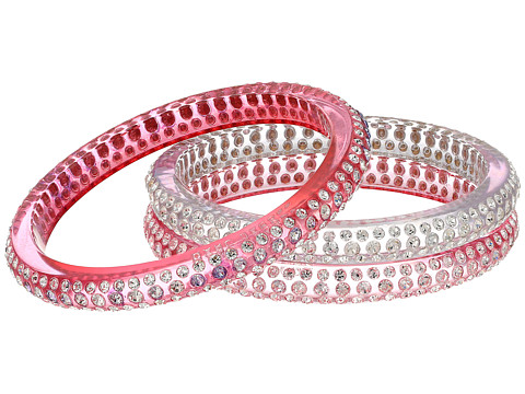 Marc Jacobs Glitter Crystal Bangle St of 3 - Blush Rose Multi