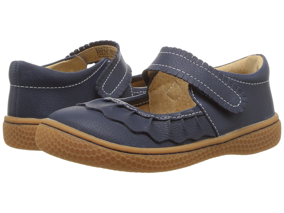 Livie + Luca Ruche (Toddler/Little Kid) (Navy Blue) Girl's Shoes