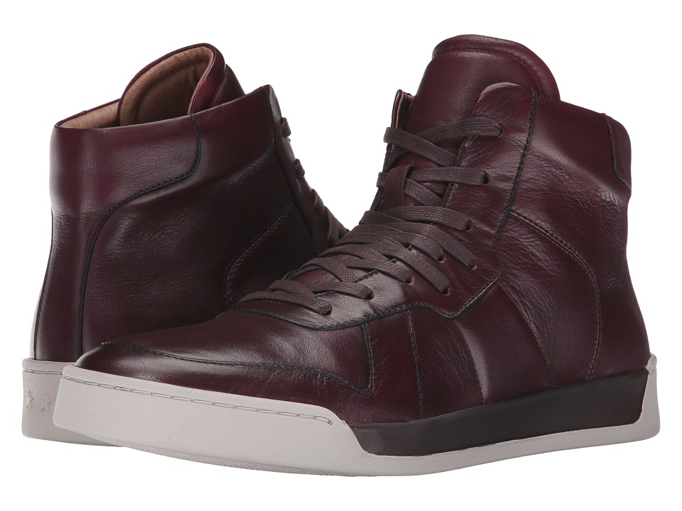 John Varvatos Remy Hi Top (Wine) Men