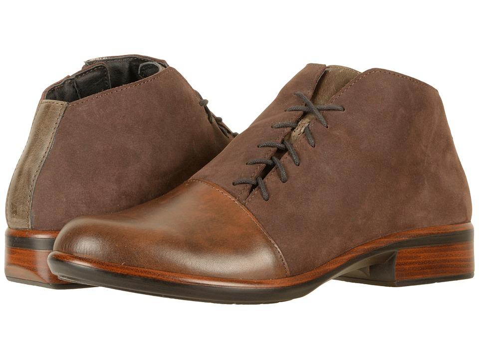 Naot Footwear Camden (Pecan Brown Leather/Coffee Bean Nubuck/Vintage Fog Leather) Women